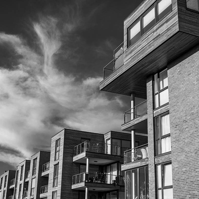 نمای مدرن در ساختمان