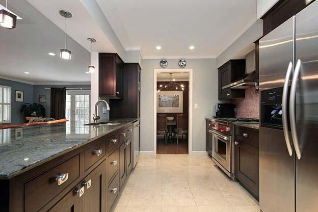 اصول طراحی کابینت برای آشپزخانه های مستطیل