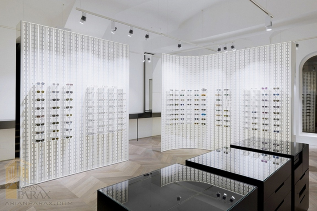 طراحی دکوراسیون عینک فروشی