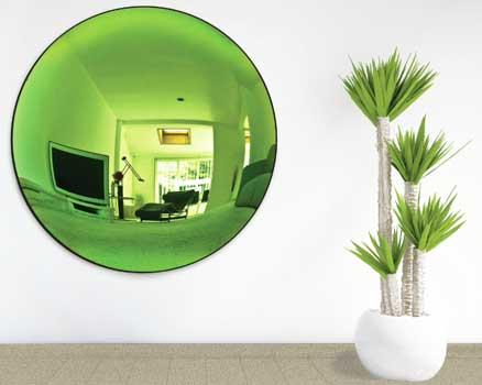 شیشه و آینه سبز در دکوراسیون