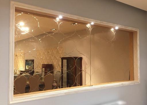 آینه شامپاینی در دکوراسیون