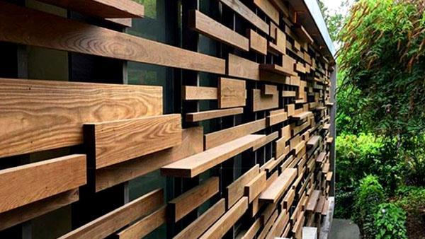 بازسازی نمای چوب