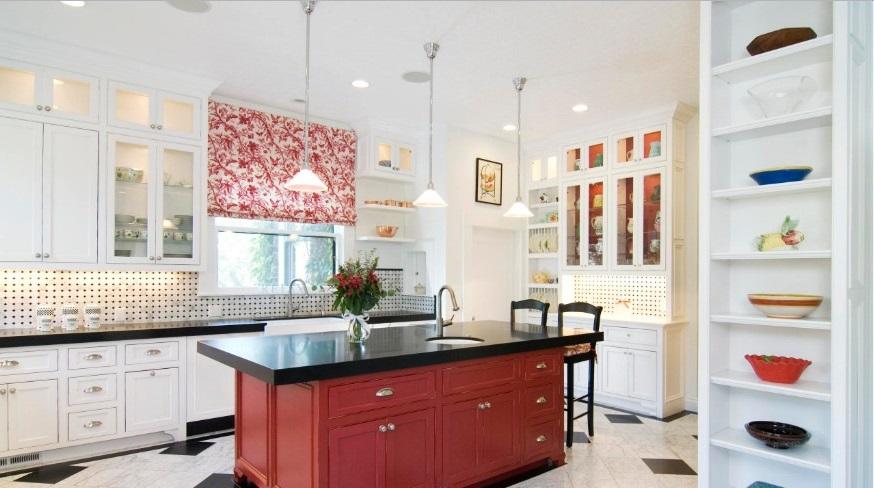 زیبا شدن آشپزخانه ها با دیوار سفید