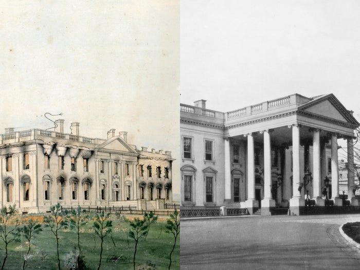 بازسازی ساختمان کاخ سفید