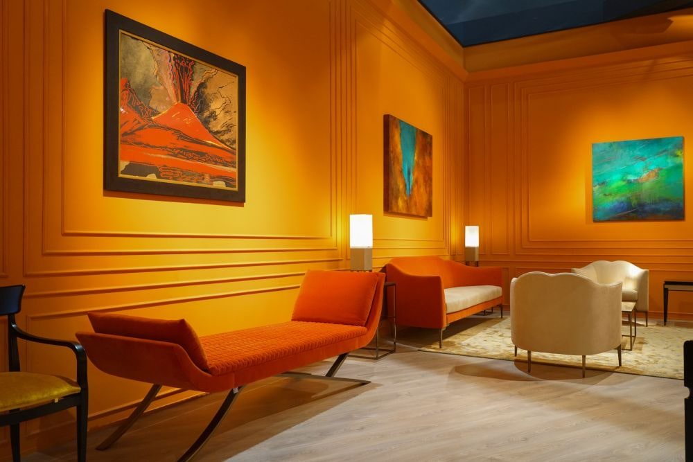 دکوراسیون خانه رنگ نارنجی