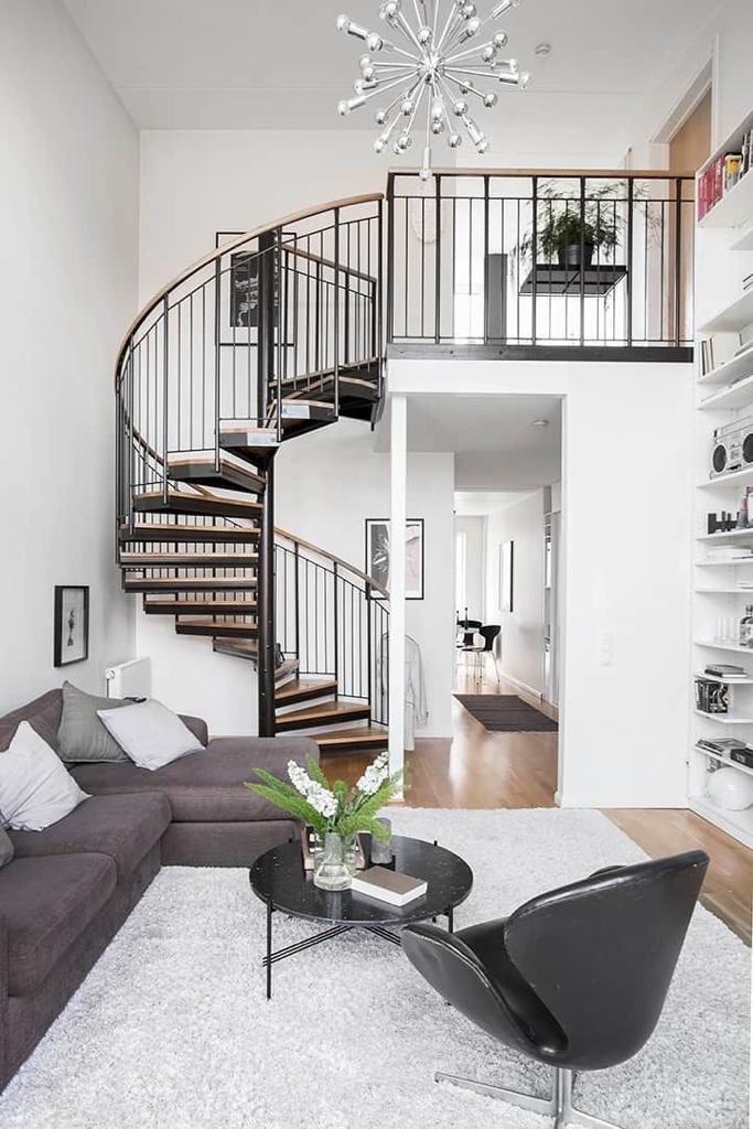راه پله آپارتمان دوبلکس