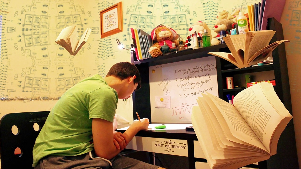 دکوراسیون داخلی اتاق نوجوانان پشت کنکوری